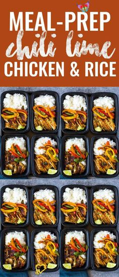 Chili Lime Chicken and Rice Meal Prep Bowls Chili Lime Chicken and Rice Meal Prep Bowls | Gimme Delicious<br>