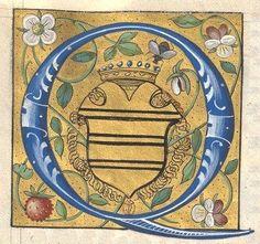 Armes peintes de Claude Gouffier, duc de Roannais, marquis de Boissy (f°44v). -- «Psautier français de Claude Gouffier, marquis de Boissy, grand écuyer de France, duc de Roannais» [BNF, Arsenal, Ms 5095 réserve]