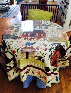 Quilt on my breakfast while hand quilting