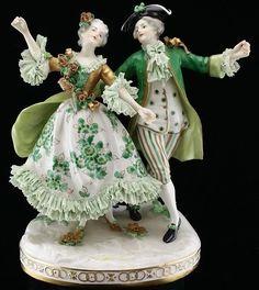 Vintage Dresden Porcelain Victorian Couple Figure : Lot 4