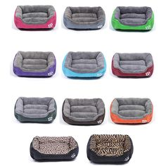 Multi-Color Soft PP Cotton Pet Dog Bed Winter Warm Padded Puppy Cat Sofa Bed Cushion Waterproof Cat Dog Pet Mat House