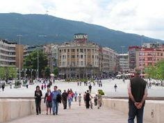 "Skopje, Macedonia. The bridge between the ""Center"" and the Old bazaar... We're going here too."