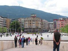 """Skopje, Macedonia. The bridge between the """"Center"""" and the Old bazaar... We're going here too."""