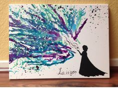 Frozen melted crayon art, but could easily be redone as Harry Potter (Snape!) | #harrypotterart #meltedcrayon