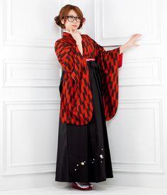 Hakama style. Love the traditional-inspired yabane pattern!