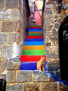 Stairway - (Rhodes, Greece)