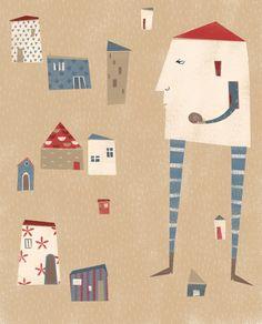 Angela de la Vega Las Vegas, Illustration, Collage, Kids Rugs, Mix Media, Holiday Decor, Home Decor, Illustrations, Home