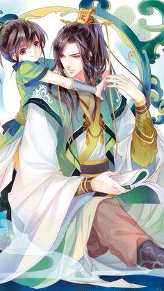 Royalty, Asian dress, man and girl.