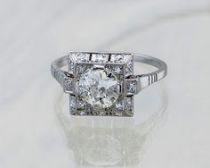 Vintage ring. Ring with diamonds.  Przepiękny stary pierścionek z diamentami.