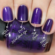 OPI I Carol About You Comparison | Holiday 2014 Gwen Stefani Collection Comparisons | Peachy Polish