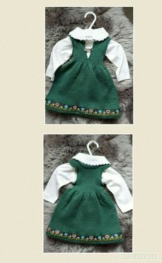 Knit Baby Dress, Baby Girl Dresses, Baby Knitting, Knit Crochet, Fashion, Moda, Infant Dresses, La Mode, Crochet