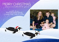 Santa Penguin Christmas card
