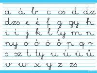 Language: The Hungarian handwritten small letter alphabet. It's actually pretty cool, because each sound has a letter. (There are no combinations or dipthongs.) So if you see a word written down, you ALWAYS know with certainty, how to pronounce it Fortune Telling Cards, How To Pronounce, World Languages, Small Letters, Hungarian Recipes, Letter Sounds, My Heritage, Kids Learning, Fun Facts