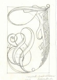 In uenerationem Titivillus Doodle Lettering, Creative Lettering, Typography Letters, Lettering Design, Hand Lettering, Illuminated Letters, Illuminated Manuscript, J Calligraphy, Arte Lowrider