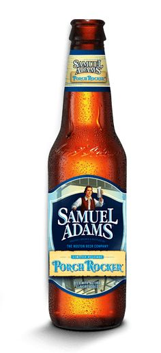 Cerveja Samuel Adams Porch Rocker, estilo Fruit Beer, produzida por Boston Beer Company, Estados Unidos. 4.5% ABV de álcool.