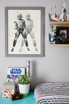Star Wars themed nursery for your little boy, perfection! #nursery #starwars #baby