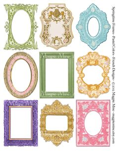 Springtime Frames Collage Sheet Easter Spring by MagpieMine