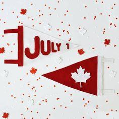 O Canada Felt Pennant