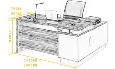 Neoclassical Modern Office Furniture Small Executive Desk