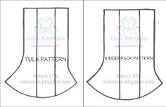 Katie's KPs: New Corner Drool Pads Patterns! Tula & Kinderpack Versions