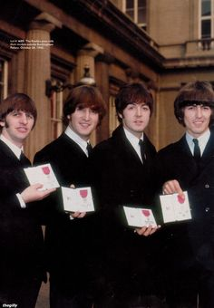 The Beatles at Buckingham Palace 1965