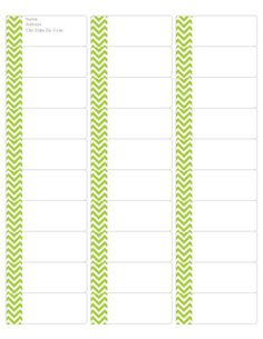 Download your FREE Lime Green Chevron Address Labels! Compatible with Avery Return Address Label 5162.