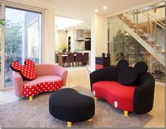minnie mouse head boards bedroom | Design » Mickey Mouse Sofa's!!