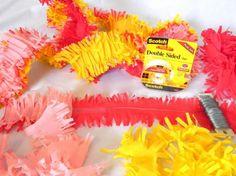Carnevale: addobbi fai da te per bambini - Festoni con frange