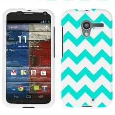 Amazon.com: Motorola Moto X Chevron Turquoise and White Pattern Phone Case Cover: Cell Phones & Accessories