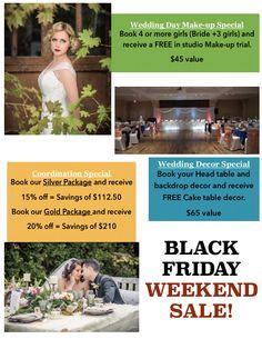 BLACK FRIDAY WEEKEND SALE Highglossweddings Ontario Wedding Planner