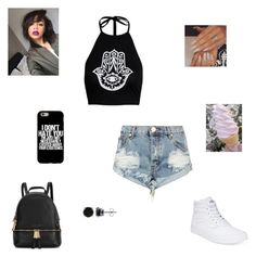 """""""I don't hate you"""" by synclairel ❤ liked on Polyvore featuring One Teaspoon, Vans, Michael Kors, BERRICLE, Spring, cute, casual and ootd"""