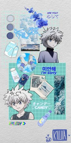 Killua Wallpaper >('^')< #wallpaper #asethetic #hxh #hunterxhunter #killua #killuazoldyck #anime /ABBYees
