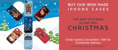 iPhone covers from Sligo company Kovet. Christmas Delivery, Stocking Fillers, Irish, Banner, Iphone Cases, Gift Ideas, Gifts, Banner Stands, Favors