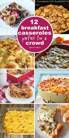 These make ahead breakfast casseroles are perfect for feeding a crowd!