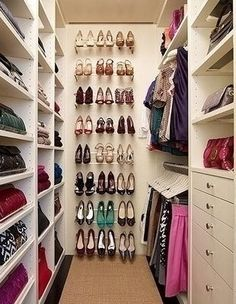 great wardrobe storage - for window wall (great idea)