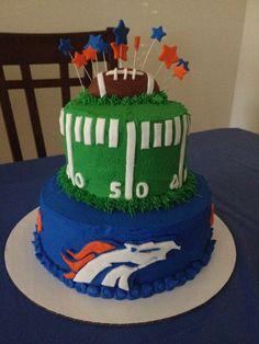 Denver Broncos cake