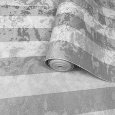 300062 Striped Silver Grey Textured Wallpaper