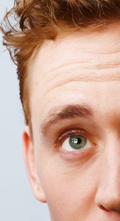 "Tom Hiddlestons eye. Like seriously every celebrity had gorgeous eyes. Like Benedict Cumberbatch.  And now him! I'm just over here like ""yeah brown eyes. Woohoo!"""