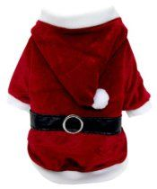 FouFou Dog Reversible Santa/Reindeer Suit, Small