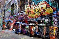 Graffiti in Hosier Lane (Melbourne, Australia)