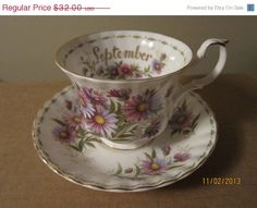 25 OFF Vintage Royal Albert Flower of the by cherryblossominblue, $24.00