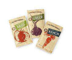 Fresh Market Packaging by in-house designers Andy Kurtts & Alex Blake, via the Dieline