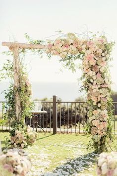 stunning floral wedding arches ideas