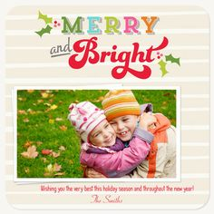 Personalized Holiday Cards, Bright Bands Design