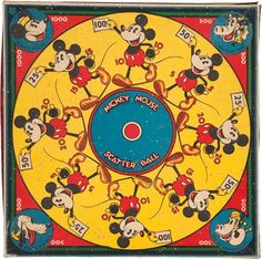 Memorabilia:Disney, Mickey Mouse Scatter Ball Game #217 (Marks Brothers, 1934)....