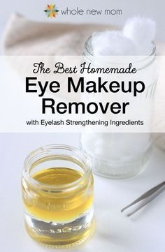 """The """"BEST"""" Homemade Eye Makeup Remover--Easy and Effective!: I tried a bunch of Homemade Eye Makeup Removers and this one worked the best. Ditch the toxins, save money, and make it yourself! Make Natural, Natural Eyes, Homemade Makeup Remover, Diy Makeup Remover Coconut Oil, Diy Makeup Remover Wipes, Beauty Hacks For Teens, Beauty Ideas, Diy Beauty Care, Beauty Secrets"""