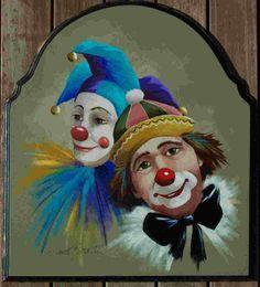 Hobo Clown Painting   066 - Jester & Clown
