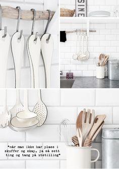 Scandinavian kitchen - tile backsplash and utensils by esther