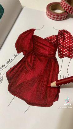 Fashion Drawing Tutorial, Fashion Figure Drawing, Fashion Model Drawing, Fashion Drawing Dresses, Fashion Illustration Dresses, Fashion Design Books, Fashion Design Sketchbook, Fashion Design Drawings, Fashion Books