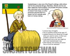 Canadian Provinces and Territories by Ctcsherry Canada Funny, Hetalia Fanart, Farm Boys, Northwest Territories, Manga List, Online Anime, Kirito, Voice Actor, Anime Characters